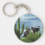 Chihuahua Country 1 Basic Round Button Keychain