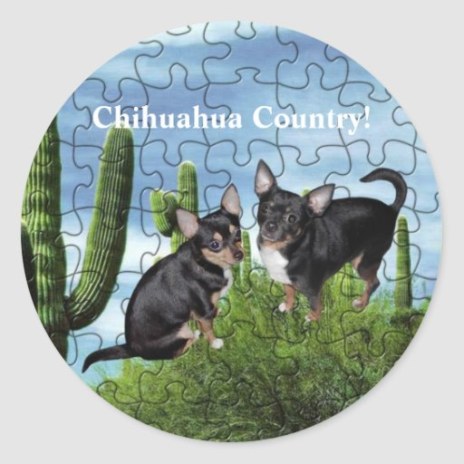 Chihuahua Country 1 Classic Round Sticker