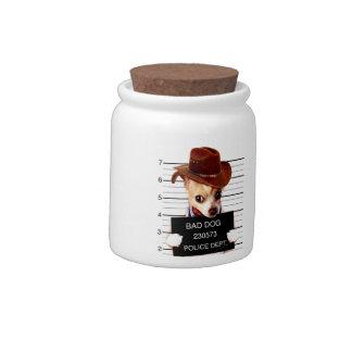 chihuahua cowboy - sheriff dog candy dish