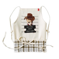 chihuahua cowboy - sheriff dog zazzle HEART apron