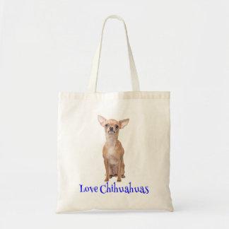 Chihuahua Creamy Tan Puppy Dog - Love Chihuahuas Tote Bag