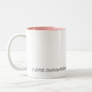 Chihuahua cup of pink ones Two-Tone coffee mug