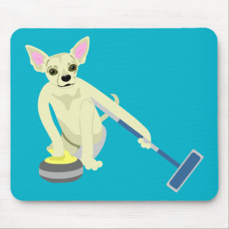 Chihuahua Curling Mouse Pad