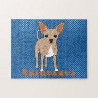 Chihuahua Cute Brown Dog Jigsaw Puzzles