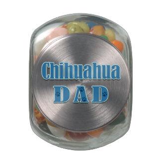 Chihuahua Dad Glass Jars