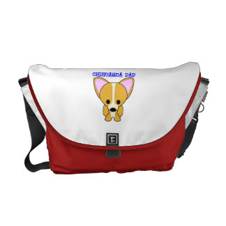 Chihuahua Dad Messenger Bags