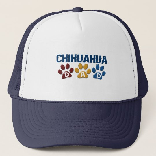 CHIHUAHUA Dad Paw Print 1 Trucker Hat