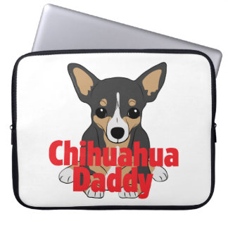 Chihuahua Daddy Black Tan Computer Sleeves
