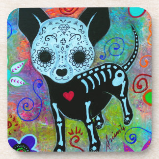CHIHUAHUA DAY OF THE DEAD PERRO BEVERAGE COASTER