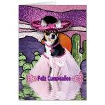 Chihuahua de Feliz Cumpleaños (feliz cumpleaños) Tarjetón