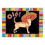 Chihuahua de la fiesta tarjeta de felicitación