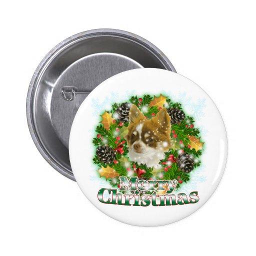 Chihuahua de las Felices Navidad Pins