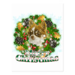 Chihuahua de las Felices Navidad Tarjeta Postal