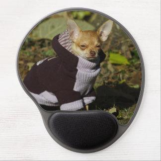 Chihuahua de moda alfombrilla para ratón de gel