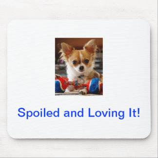 Chihuahua de pelo largo alfombrilla de raton