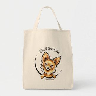 Chihuahua de pelo largo IAAM Bolsa Tela Para La Compra
