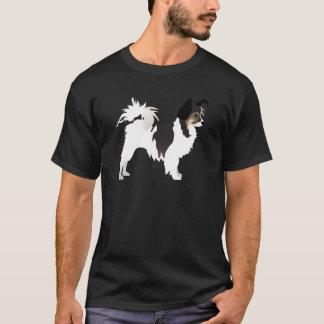 Chihuahua de pelo largo o diseño básico de playera