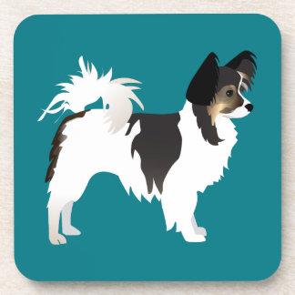 Chihuahua de pelo largo o diseño básico de posavasos