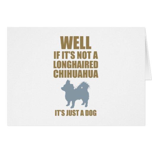 Chihuahua de pelo largo tarjeta de felicitación