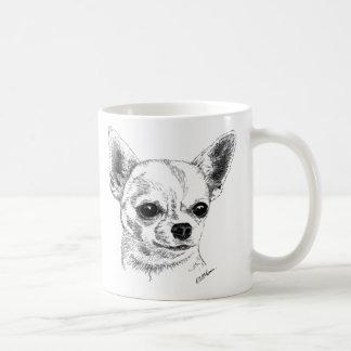 Chihuahua de Smoothcoat Taza Básica Blanca