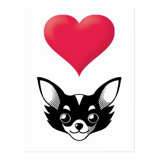 Chihuahua del amor postal