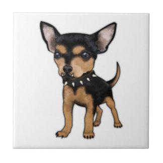 Chihuahua del asesino azulejos