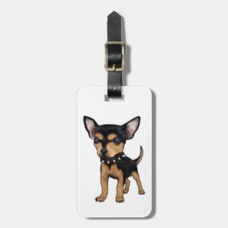 Chihuahua del asesino etiquetas de maletas