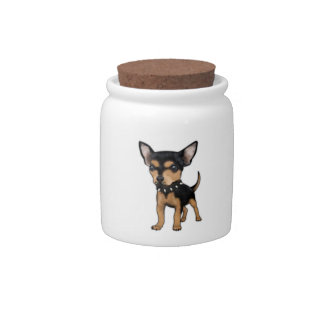 Chihuahua del asesino jarras para caramelos