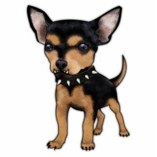 Chihuahua del asesino imán fotoescultura