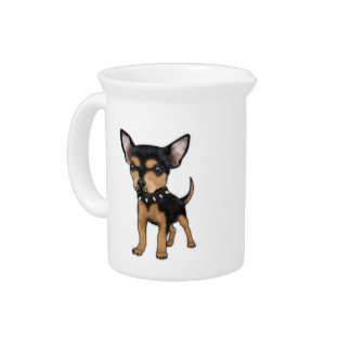 Chihuahua del asesino jarras para bebida