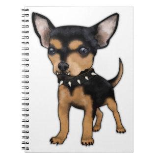 Chihuahua del asesino libros de apuntes
