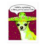 Chihuahua del asesino tarjetas postales