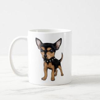Chihuahua del asesino taza de café