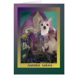 Chihuahua del carnaval en traje tarjeta de felicitación