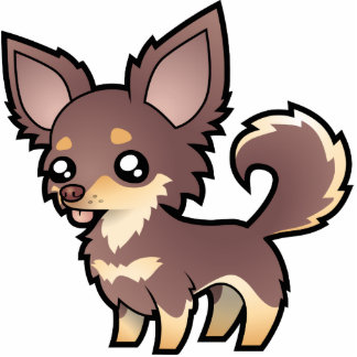 Chihuahua del dibujo animado (capa larga) escultura fotográfica