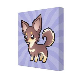 Chihuahua del dibujo animado (capa larga) lienzo envuelto para galerias