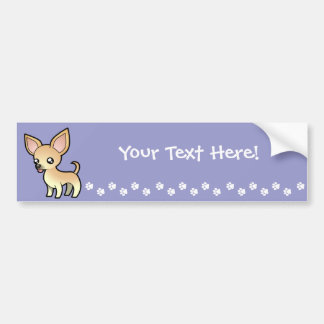 Chihuahua del dibujo animado (capa lisa) pegatina de parachoque