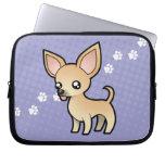Chihuahua del dibujo animado (capa lisa) fundas portátiles