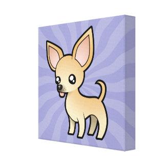 Chihuahua del dibujo animado (capa lisa) impresión en lona estirada