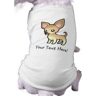 Chihuahua del dibujo animado (capa lisa) playera sin mangas para perro