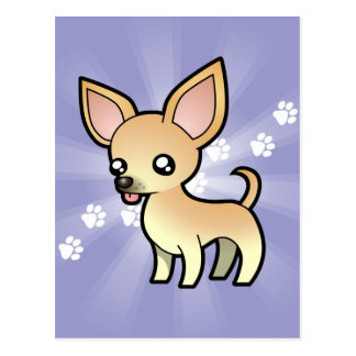 Chihuahua del dibujo animado (capa lisa) tarjeta postal