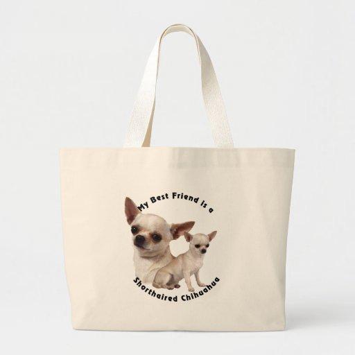 Chihuahua del mejor amigo de pelo corto bolsas de mano
