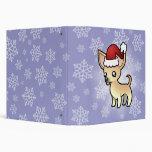 """Chihuahua del navidad (capa lisa) carpeta 1 1/2"""""""