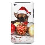 Chihuahua del navidad Case-Mate iPod touch fundas