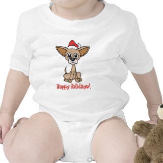Chihuahua del navidad trajes de bebé