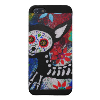 Chihuahua Dia De los Muertos by Prisarts Covers For iPhone 5