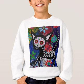 Chihuahua Dia De los Muertos by Prisarts Sweatshirt