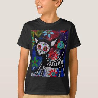 Chihuahua Dia De los Muertos by Prisarts T-Shirt