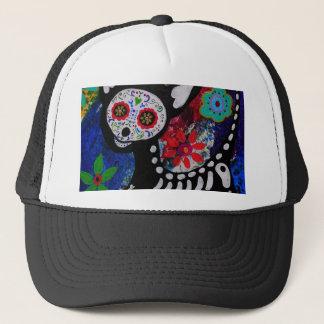 Chihuahua Dia De los Muertos by Prisarts Trucker Hat