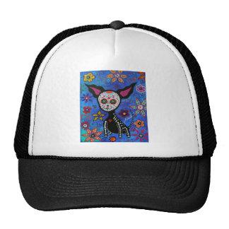 Chihuahua Dia de los Muertos Hat